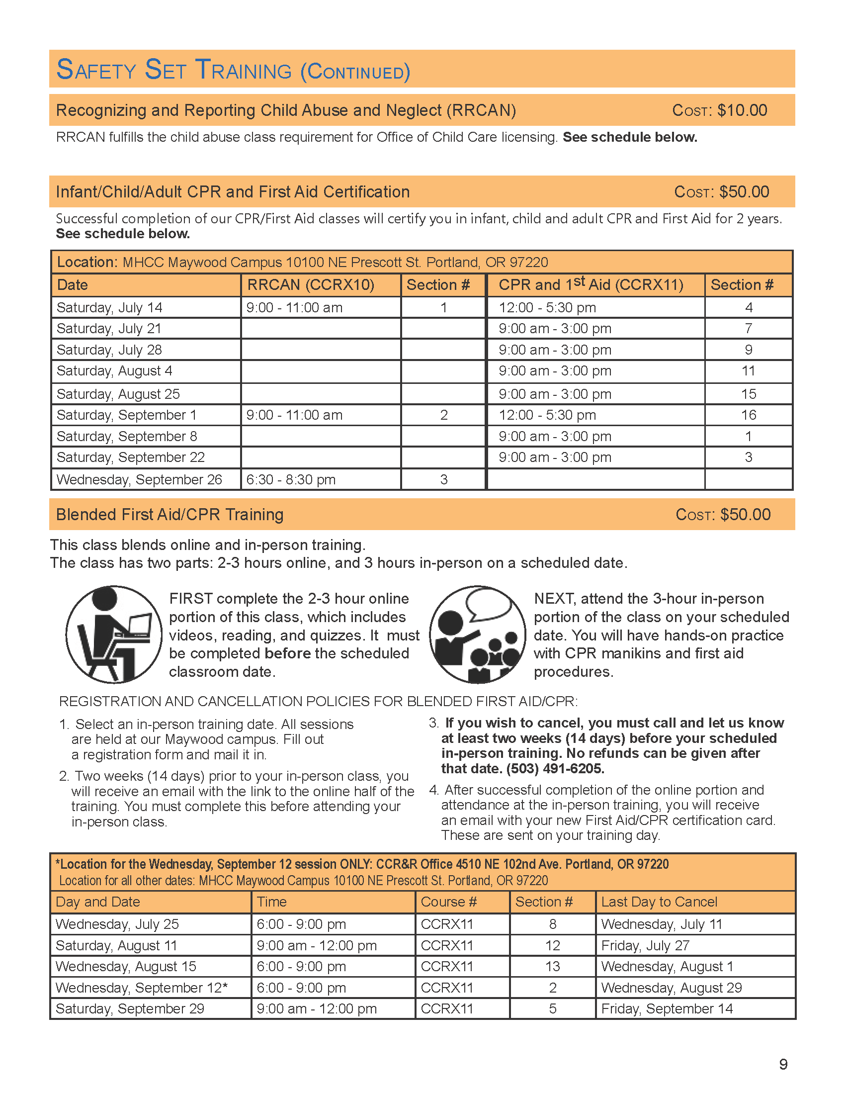 Cpr First Aid Child Care Resource Referral