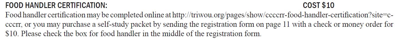 English Registration